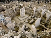 Sito antico di Göbekli Tepe in Turchia del sud Fotografia Stock