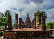 Sito antico Sukhothai del patrimonio mondiale della statua di Buddha storico Immagine Stock