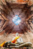 Sito archeologico a Ayutthaya Immagini Stock