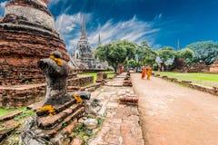 Sito archeologico a Ayutthaya Fotografie Stock Libere da Diritti