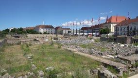 Sito archeologico a Budapest stock footage