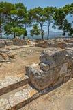Sito archeologico del palazzo di Phaistos su Creta Fotografia Stock Libera da Diritti