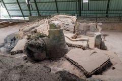 Sito archeologico di Joya de Ceren, EL Salvad fotografia stock