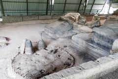Sito archeologico di Joya de Ceren, EL Salvad fotografie stock libere da diritti