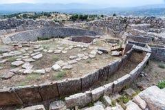 Sito archeologico greco di Micene Immagini Stock