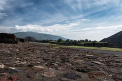 Sito archeologico messicano famoso e majestuous Fotografia Stock Libera da Diritti