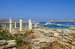 Sito archeologico sull'isola di Delos Immagine Stock