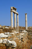 Sito archeologico sull'isola di Delos, Grecia Immagine Stock