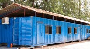 Sito blu dell'ufficio del contenitore di colore Fotografia Stock