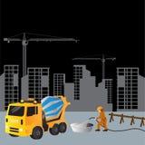 Sito in costruzione di costruzione, Fotografia Stock