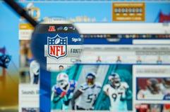 Sito del funzionario del NFL Fotografia Stock