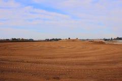 Sito del materiale di riempimento del terreno industriale Fotografie Stock Libere da Diritti