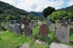 Sito del monastico di Glendalough immagini stock libere da diritti