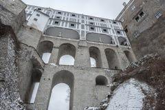 Castello di Cesky Krumlov Immagini Stock