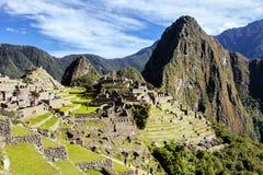 Sito del patrimonio mondiale di Machu Pichu della città di Arechological, Perù Fotografia Stock Libera da Diritti