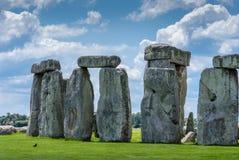 Sito del patrimonio mondiale di Stonehenge, pianura di Salisbury, Wiltshire, Regno Unito Fotografie Stock