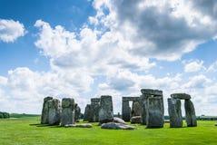 Sito del patrimonio mondiale di Stonehenge, pianura di Salisbury, Wiltshire, Regno Unito Fotografia Stock
