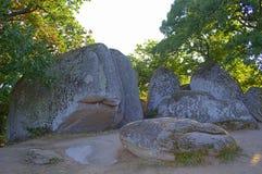 Sito del santuario di Beglik Tash, Bulgaria Immagini Stock Libere da Diritti