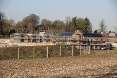 Sito dell'edificio residenziale in campagna inglese Fotografia Stock Libera da Diritti