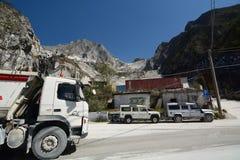 Sito della cava del marmo di Fantiscritti Alpi di Apuan tuscany L'Italia Immagine Stock Libera da Diritti