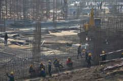 Sito della costruzione di edifici alla Tailandia Fotografia Stock Libera da Diritti
