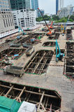 Sito della costruzione di edifici alla Tailandia Fotografie Stock Libere da Diritti