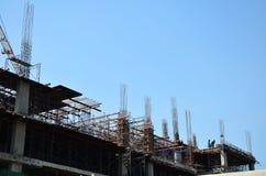 Sito della costruzione di edifici alla Tailandia Immagine Stock