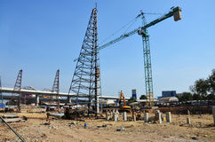 Sito della costruzione di edifici alla Tailandia Immagine Stock Libera da Diritti