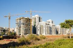 Sito della costruzione di edifici dell'appartamento in Israele Immagine Stock Libera da Diritti