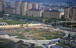 Sito della costruzione di edifici di Shaoxing Cina immagine stock libera da diritti