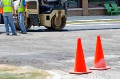 Sito della costruzione di strade Immagine Stock Libera da Diritti