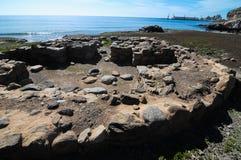 Sito di archeologia in isole Canarie Fotografia Stock Libera da Diritti