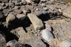 Sito di archeologia in isole Canarie Fotografie Stock Libere da Diritti