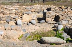 Sito di archeologia in isole Canarie Fotografia Stock