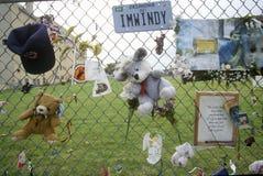 Sito di bombardamento di Alfred P Costruzione federale di Murrah, Oklahoma City, APPROVAZIONE fotografia stock libera da diritti