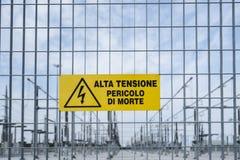 Sito di centrale elettrica Immagini Stock Libere da Diritti