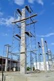 Sito di costruzione della costruzione della Tailandia Fotografia Stock