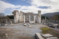 Sito di eredità dell'Unesco della città antica di Ephesus, Selcuk, Tur Fotografie Stock Libere da Diritti