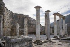 Sito di eredità dell'Unesco della città antica di Ephesus, Selcuk, Tur Fotografie Stock