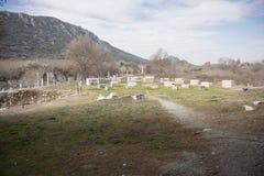 Sito di eredità dell'Unesco della città antica di Ephesus, Selcuk, Tur Fotografia Stock