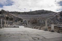 Sito di eredità dell'Unesco della città antica di Ephesus, Selcuk, Tur Fotografia Stock Libera da Diritti