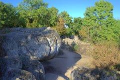 Sito di formazione rocciosa, Beglik Tash Bulgaria Immagine Stock