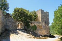 Sito di Gicon, torre antica del segnale, Provenza, a sud della Francia Fotografia Stock Libera da Diritti