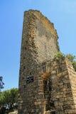Sito di Gicon, torre antica del segnale, Provenza, a sud della Francia Fotografia Stock