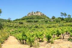 Sito di Gicon, torre antica del segnale, Provenza, a sud della Francia Immagini Stock Libere da Diritti