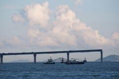 Sito di Hong Kong-Zhuhai-Macao Bridge immagine stock