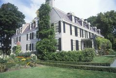 Sito di John Adams National Historic, casa di John Adams, Braintree, Massachusetts Immagini Stock Libere da Diritti