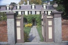 Sito di John Adams National Historic, casa di John Adams, Braintree, Massachusetts Fotografia Stock Libera da Diritti