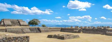 Sito di Monte Alban Archaeological Immagine Stock Libera da Diritti