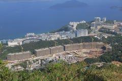 Sito di Tai Po Tsai del progetto buliding della nuova casa del mondo Fotografia Stock